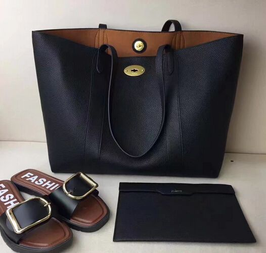 Summer 2017 Mulberry Bayswater Tote Black Small Classic Grain #mulberrybag