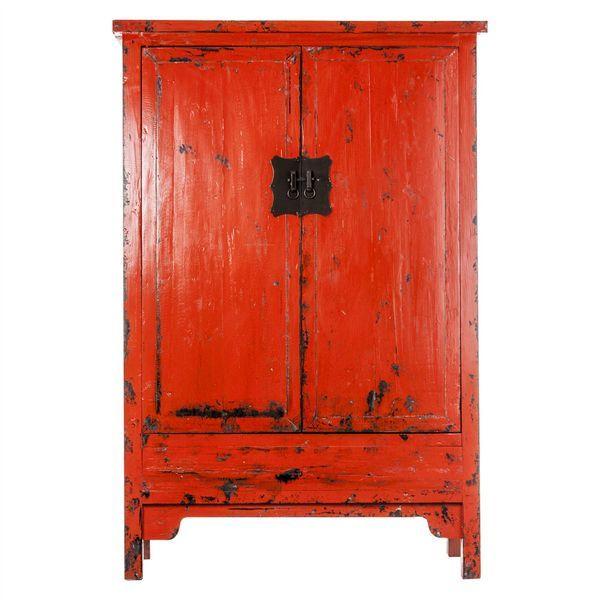 Armario Rojo 2 Puertas Oriental Blenus | MUEBLE DE COLORES ...