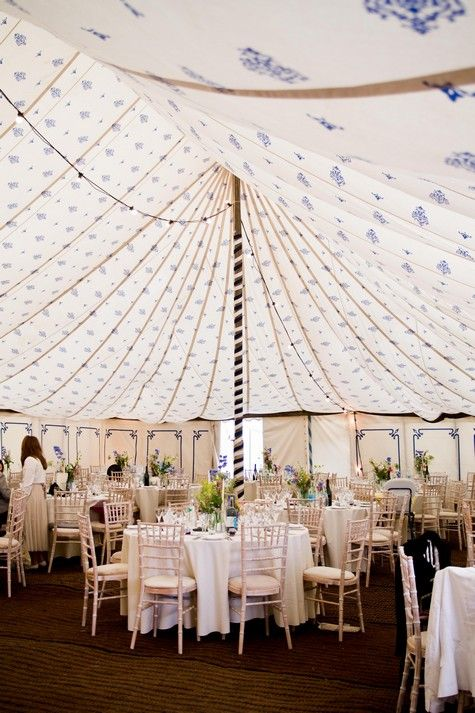 Cornish wedding This obviously a tent, but this effect could probably be achieved with a wooden frame structure and parachute