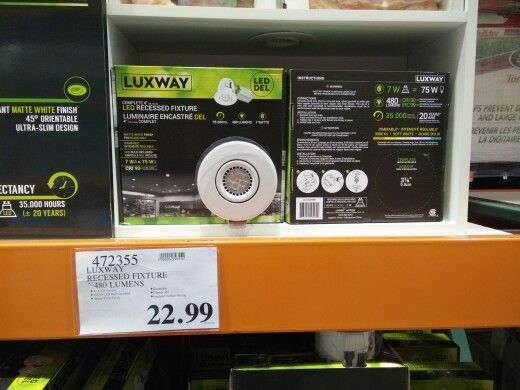 22 99 Costco Led Pot Lights Pot Lights Kitchen Appliances