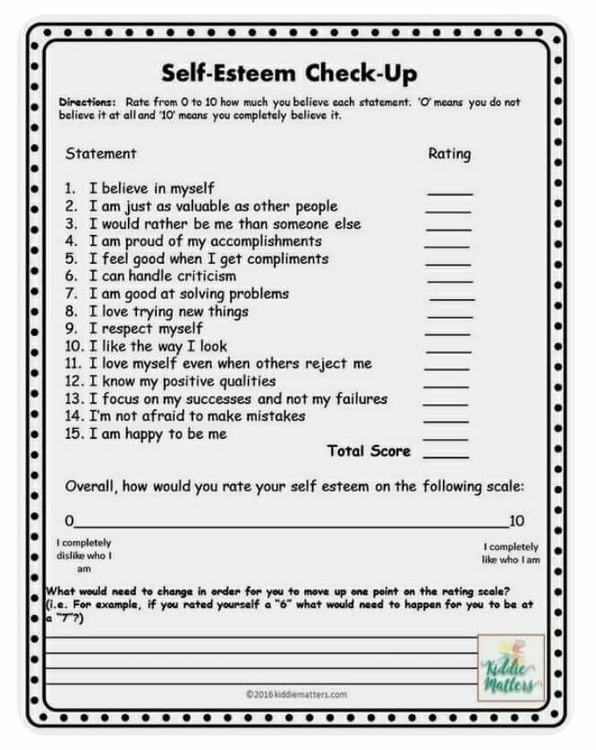 Self esteem survey | School Psychology/BCBA | Self esteem worksheets ...
