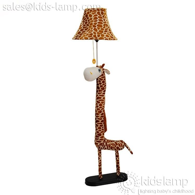 kids bedroom fabric cartoon giraffe floor lamps - Giraffe Lamp