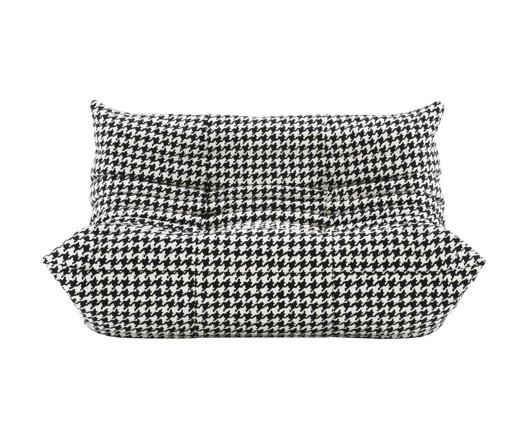 Togo sofa by Ligne Roset dressed in Alcantara Roma.