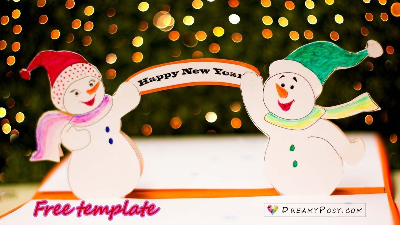 free template how to make popup christmas card with