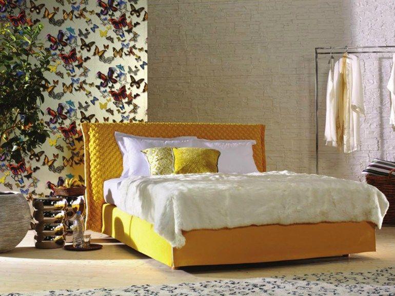 Schramm Werkstätten bed with upholstered headboard loft 2 by schramm werkstätten 金源