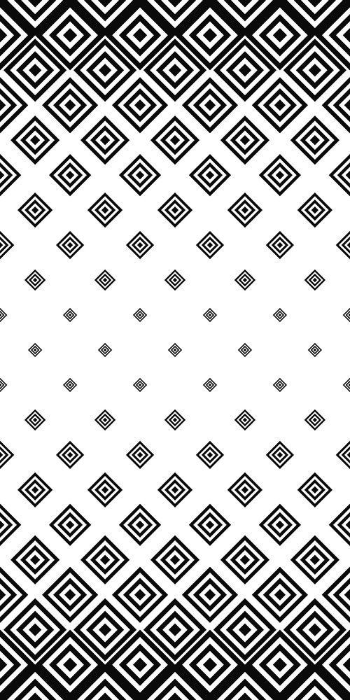 Black White Seamless Square Pattern Monochrome Pattern