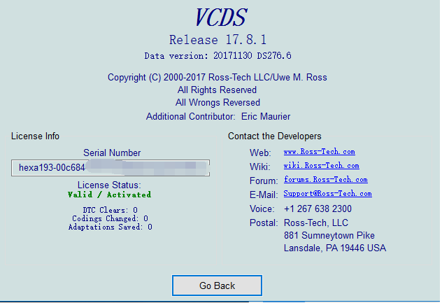 VCDS 17 8 1 Crack Cable with VCDS 17 8 1 software update online