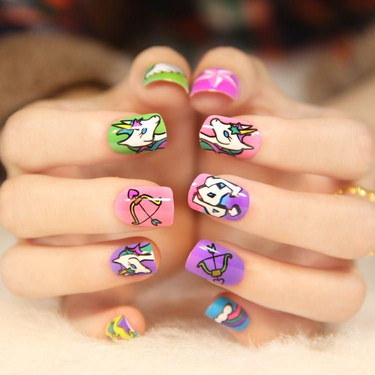 Zakka Nail Art Station 24 Pre Design False Full Nail Tips   eBay ...