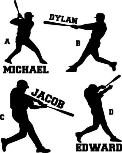 Download Baseball Player Personalized Name Vinyl Car Wall by ...