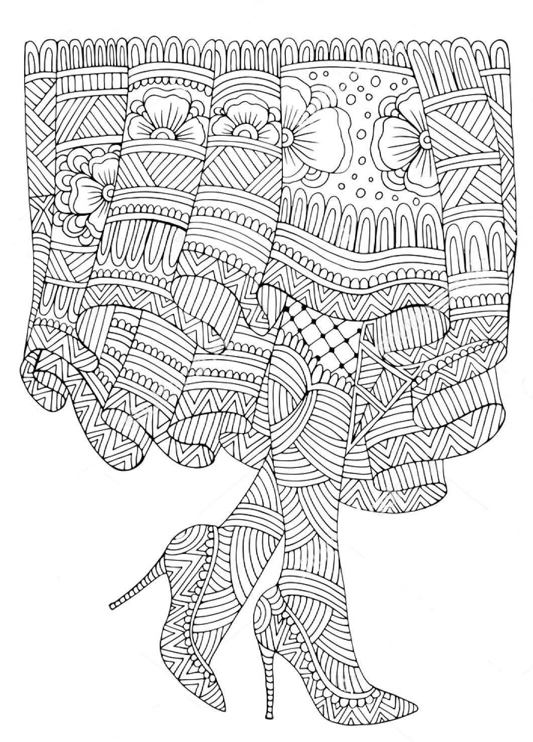 female feet zentangle coloring page zentangle coloring pages