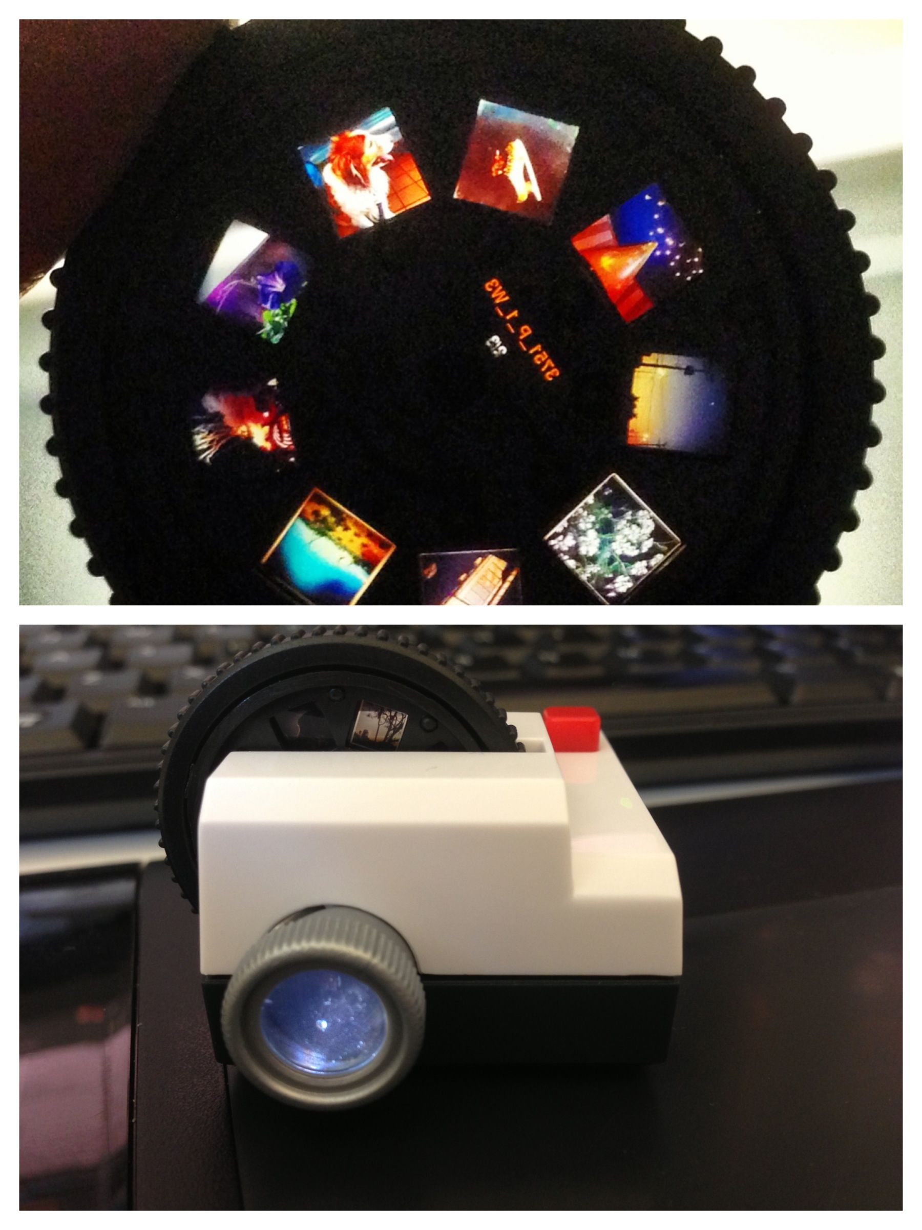 Get your Instagram photos on a mini projector! I love it!!  Projecteo!