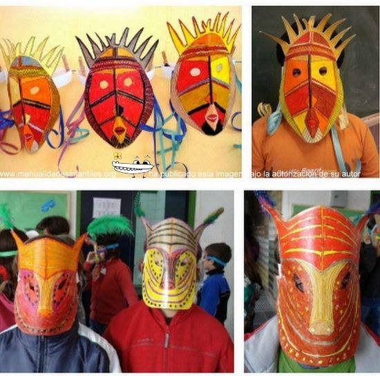 Mascara de carnaval manualidades para nios manualidad m 225 scaras de carnaval para pintar y - Mascaras para carnaval manualidades ...