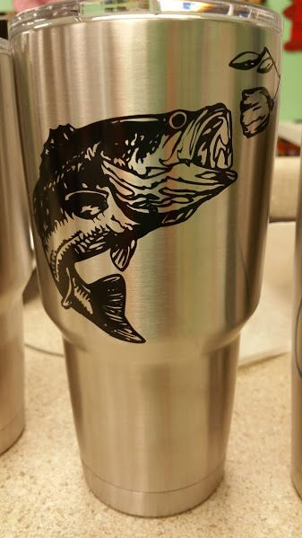 father u0026 39 s day fish cricut vinyl design on insulated tumbler