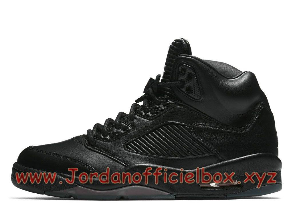 Chaussures Air Jordan 5 Retro Triple Black 881432_010 Air Jordan Pas cher  Pour HOmme-Jordan