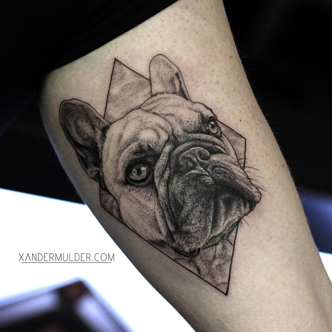 Tattoo Of My French Bulldog By Xander Mulder Wikinger