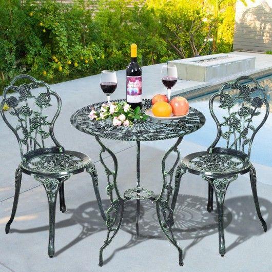 cast aluminum bistro rose furniture set green furniture ideas