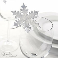 SNOWFLAKE PLACE NAME CARDS FOR GLASS -Christmas/Winter Wedding Table Decorations | eBay