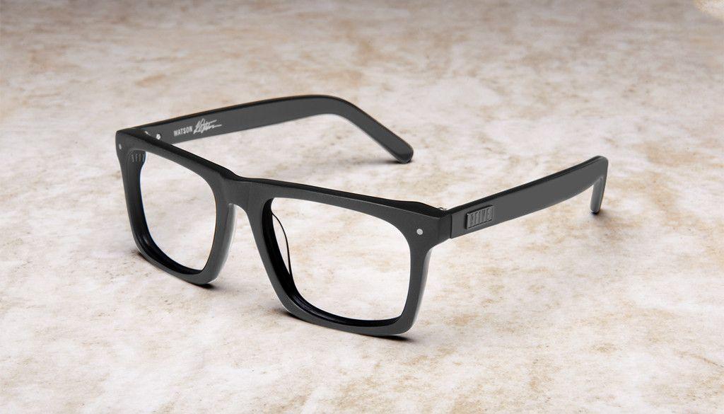 0dfa55f0e7 9FIVE Watson Matte Blackout Clear Lens Glasses