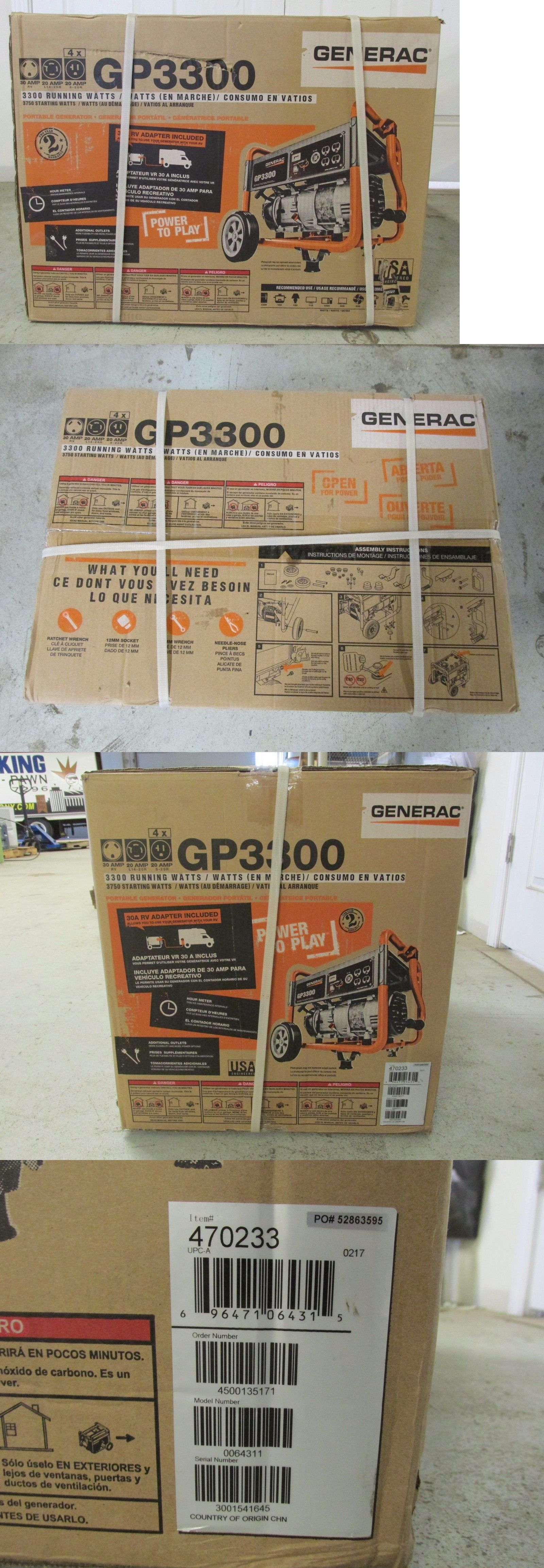 Generators Generac Gp3300 Portable Generator 3300 Watt