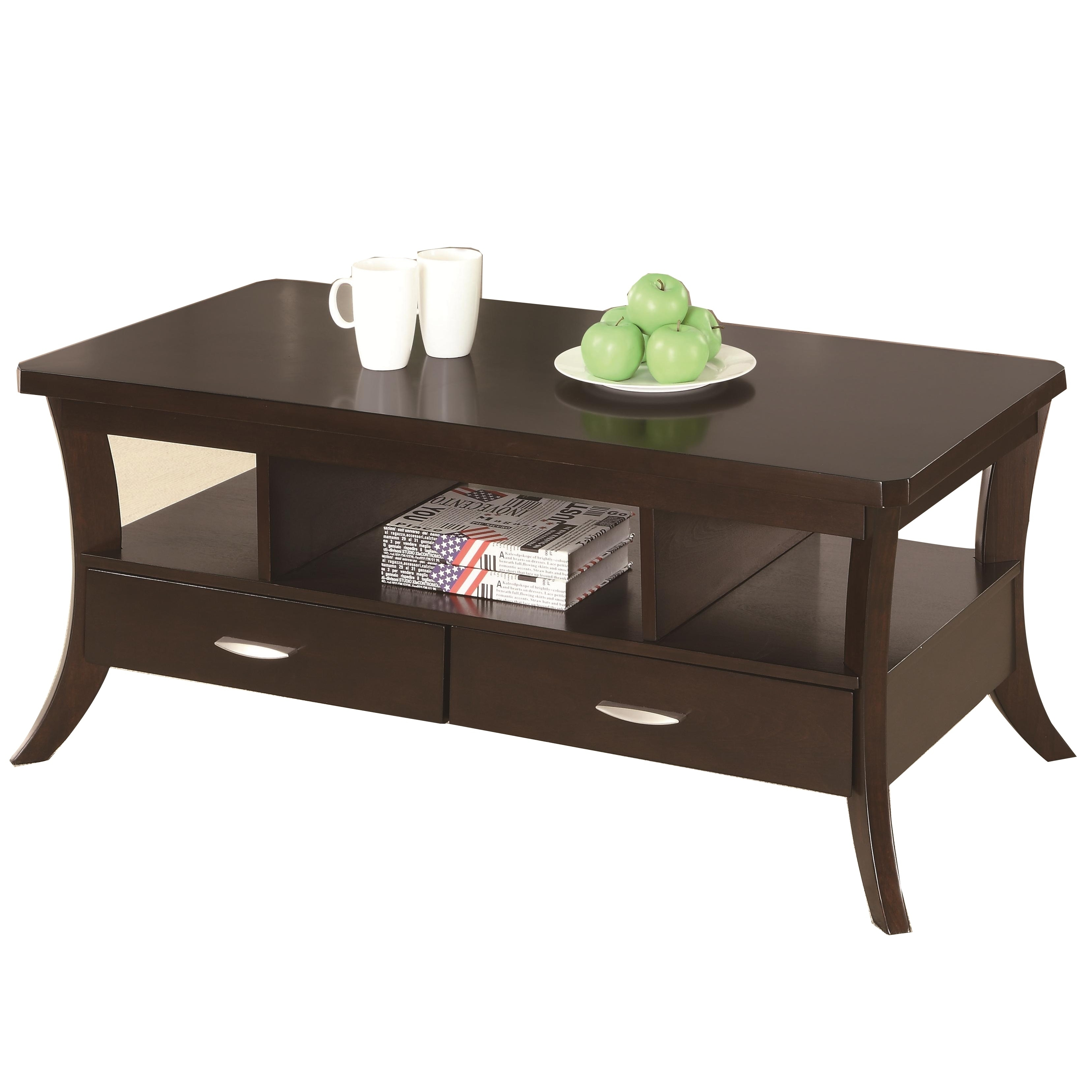 Incredible Contemporary Coffee Table With 2 Bottom Drawers Open Forskolin Free Trial Chair Design Images Forskolin Free Trialorg