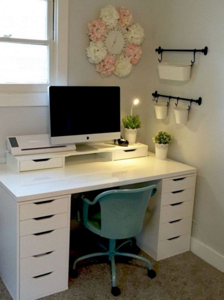 36 Awesome Ikea Hacks Ideas For Home Decor Homeridian Com Ikea Home Office Home Office Design Ikea Small Office