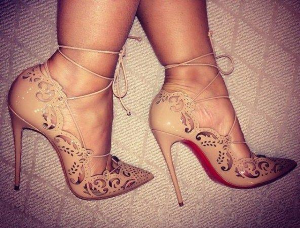 Nude Shoes Evelyn Lozada