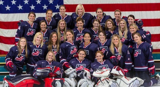 U S Women S Hockey Team Scrimmaging Against High School Boys With Mixed Results Olympic Hockey Team Usa Hockey Hockey Teams