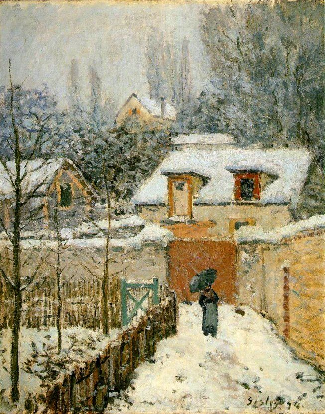 Alfred Sisley, Snow at Louveciennes, 1874.
