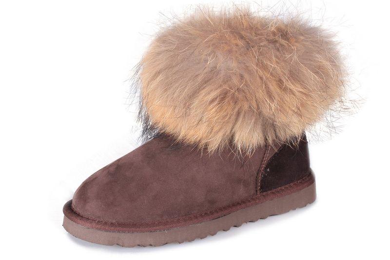 eae117c3aef UGG Boots - Classic Mini Fox Fur -Chocolate - 5854 | Fashion ...