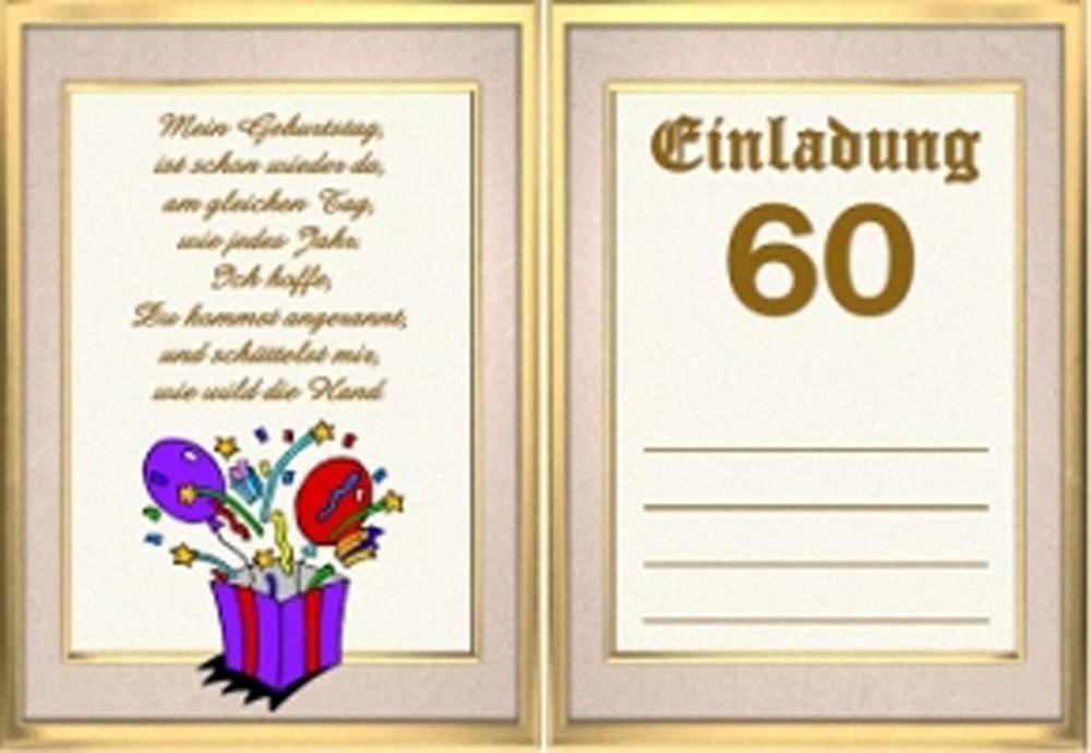 60. geburtstag einladungskarten selbst gestalten di 2020