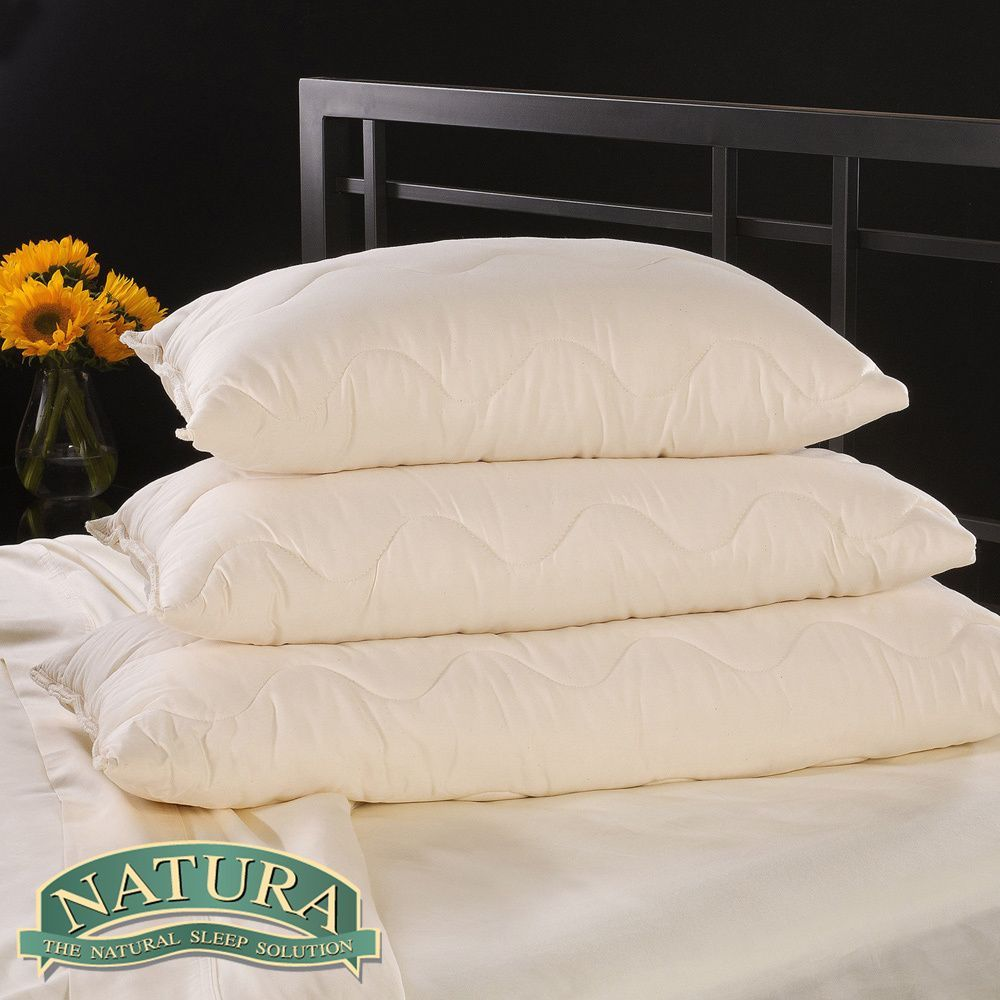 natura vibrance wool lined talalay latex core pillow by natura world