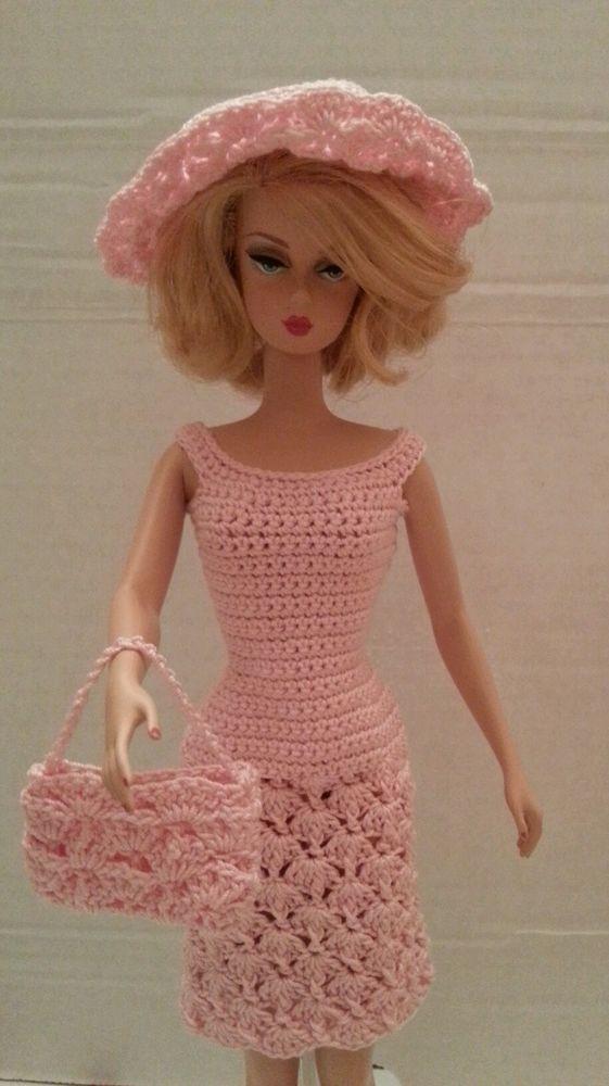 OOAK Crochet Dress for Silkstone barbies:   Crochet barbie ...