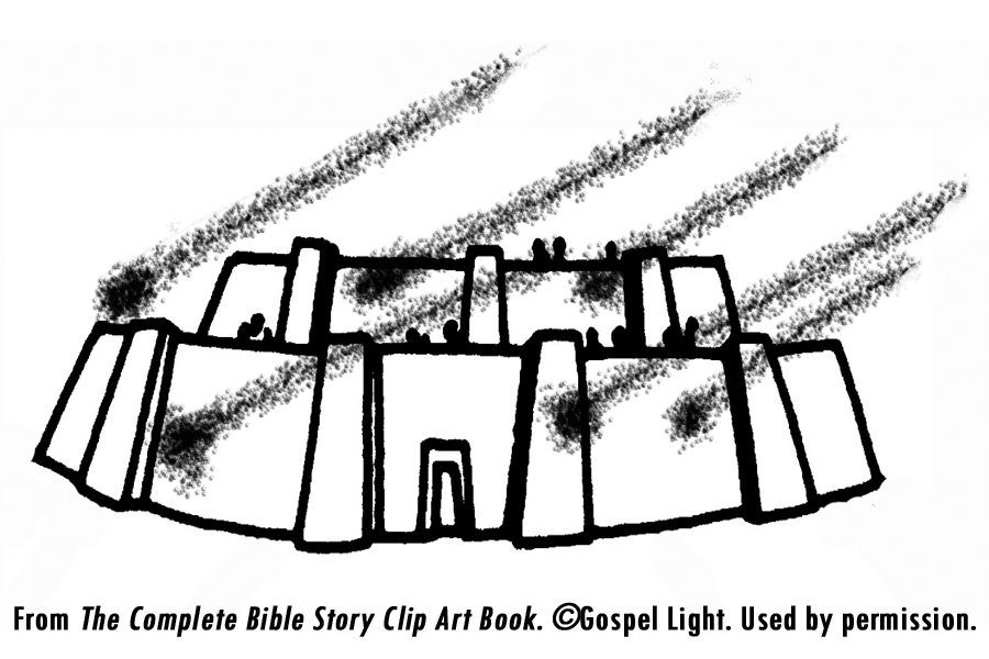 Sodom En Gomorra Vertel Spel Knutsel Ideeen And Gomorrah Teaching Resources From The Complete Bible Story Clip Art Book Gospel Light
