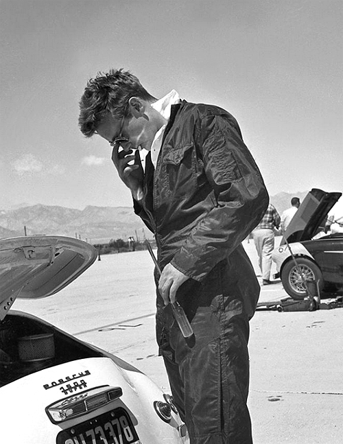 Endlessme James Dean Checks His Car Before A Race In Palm