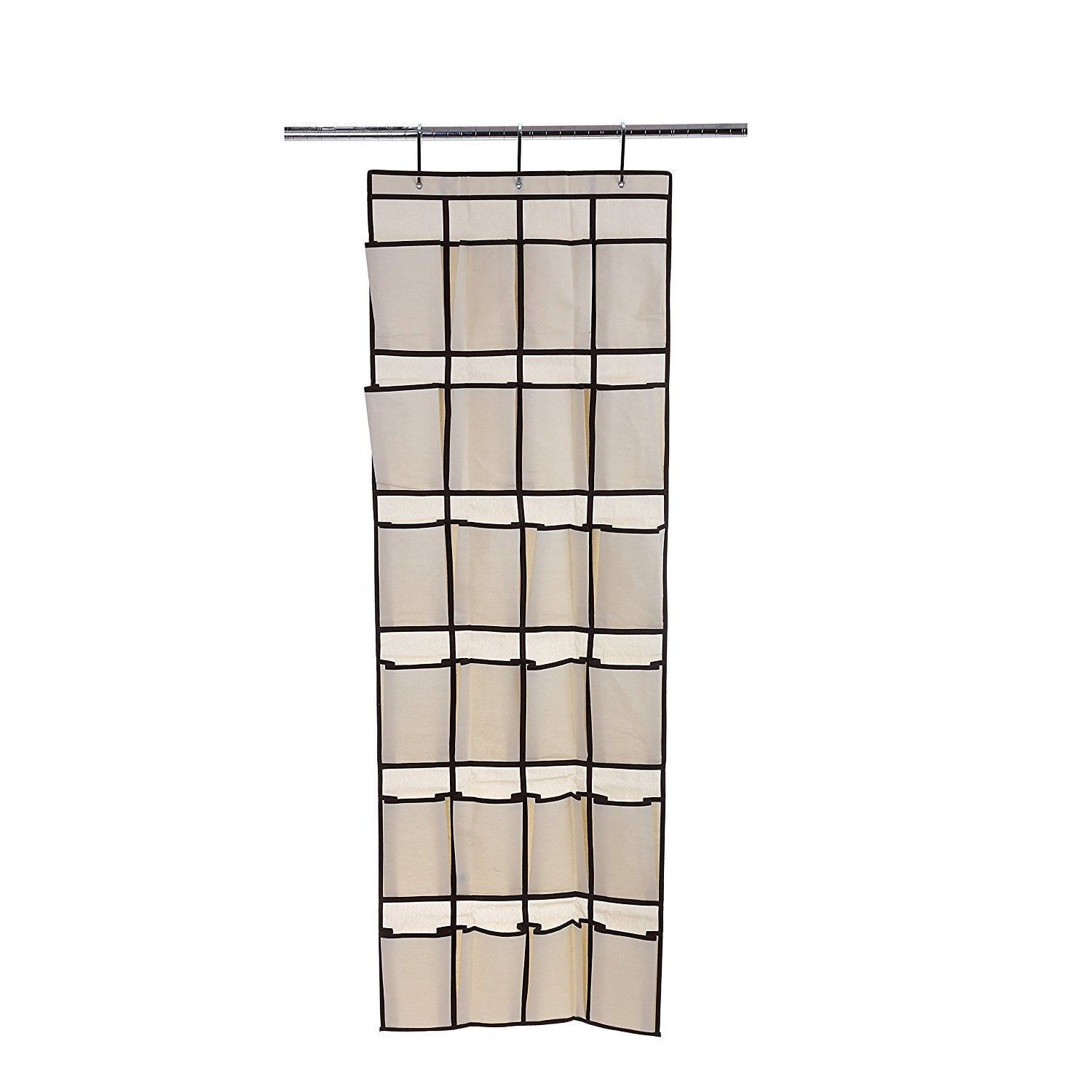 Ybmhome pocket fabric hanging shoe organizer size beige