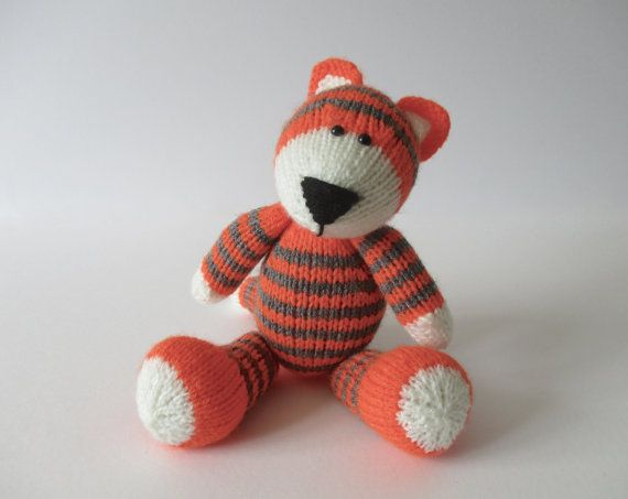 Knitting the pattern for Toby the Tiger and knitting patterns ...