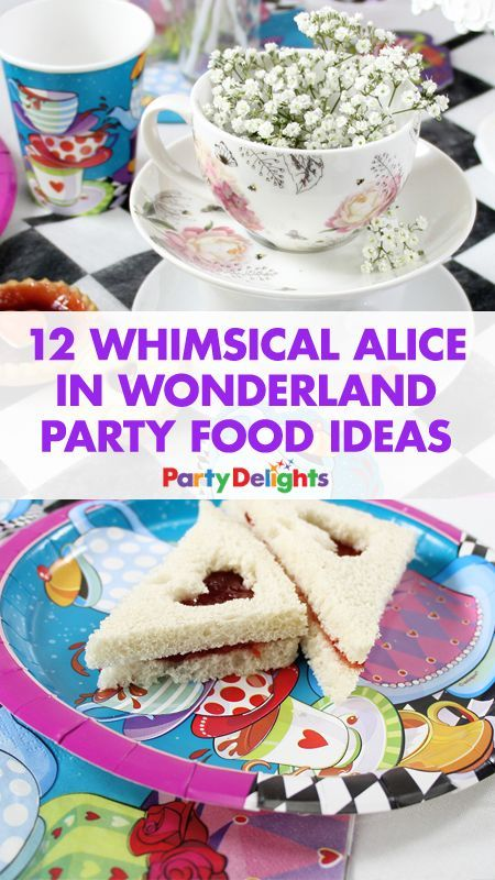 Planning an Alice in Wonderland tea party or Mad Hatter's tea party? Take a look at our Alice in Wonderland party food ideas for inspiration for what to serve to your guests! Includes easy party food ideas that even beginners can do.