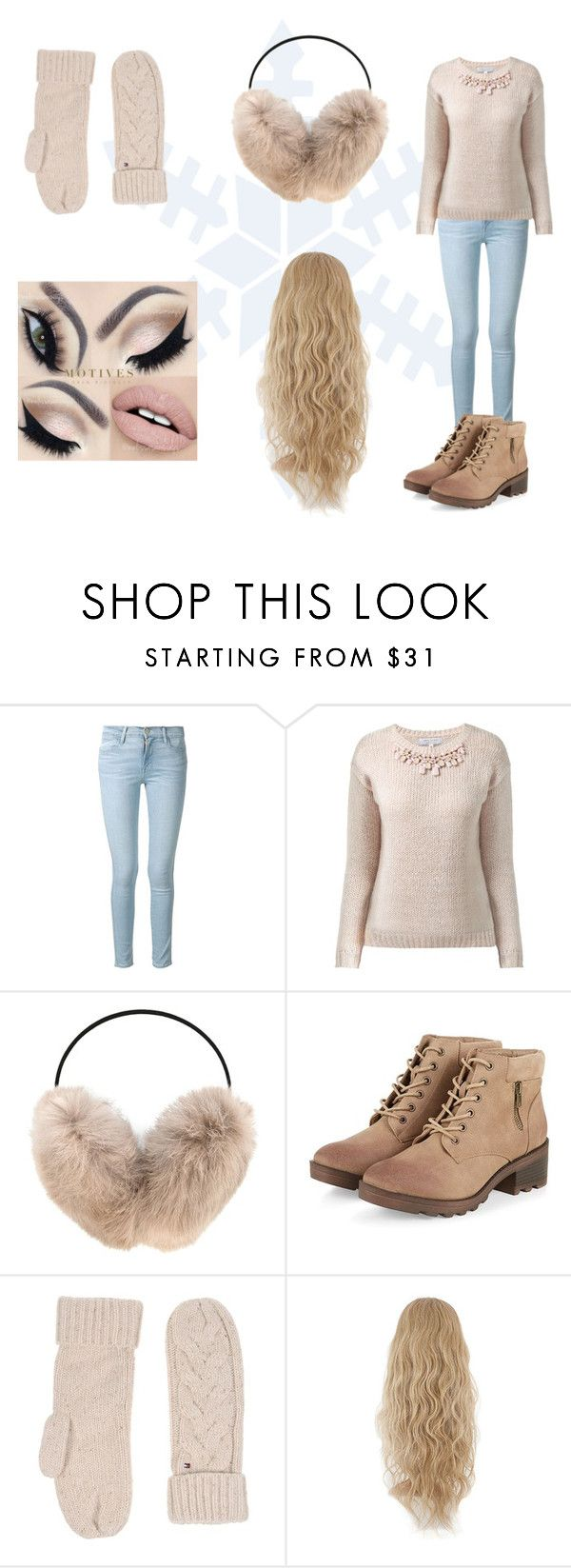 """let it snow"" by erinne1 ❤ liked on Polyvore featuring Frame Denim, Yves Salomon and Tommy Hilfiger"