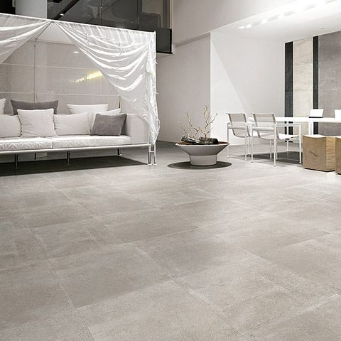 Carrelage ciment gris 60 x 60 cm naturel rectifi great for Carrelage 60 x 60