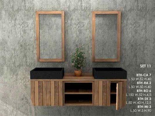 Mobili Bagno in legno Massello Lavandini Pietra e Marmo - www ...