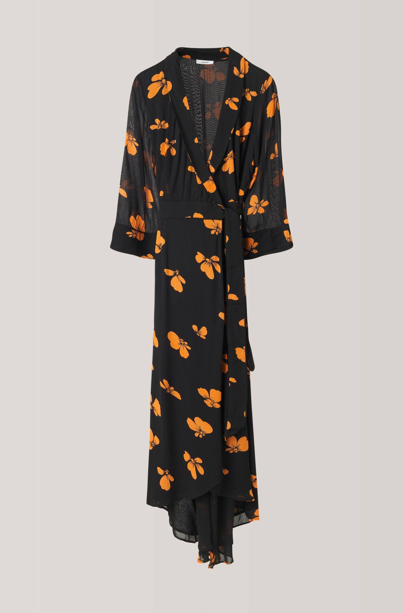 ganni leopard klänning