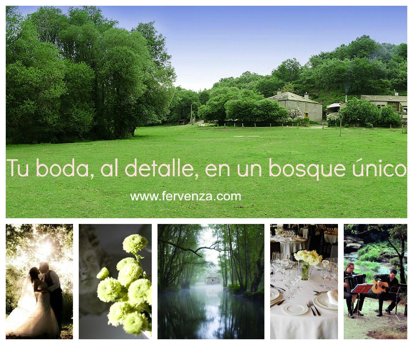 Tu boda en el Bosque da Fervenza de Lugo (Galicia). #bodalugo #restaurantelugo fervenza.com