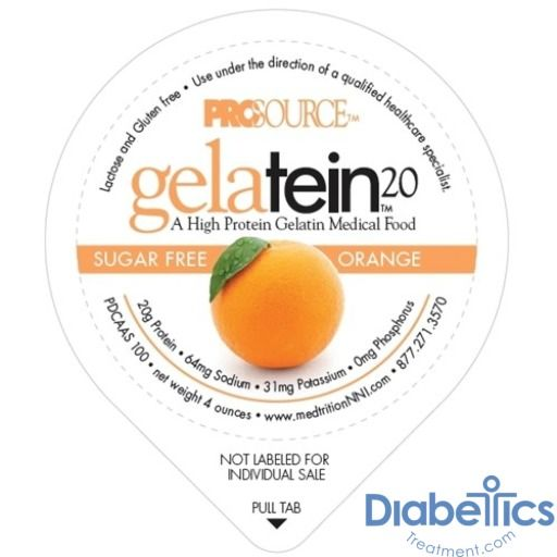 14 count Sugar free. 20 grams of protein ProSource Gelatein 20 Fruit Punch