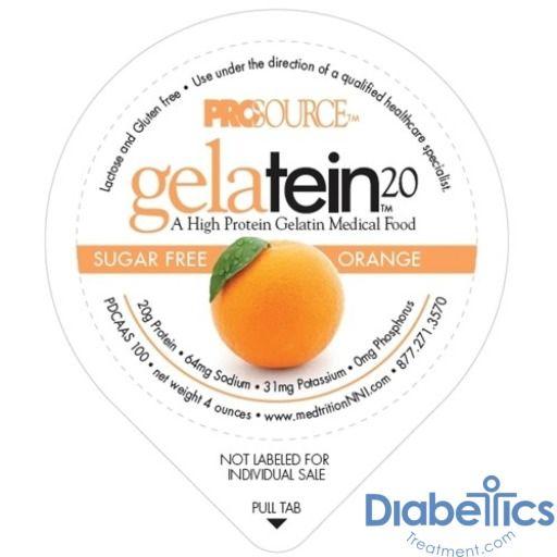 14 count Sugar free. 20 grams of protein ProSource Gelatein 20 Fruit Punch