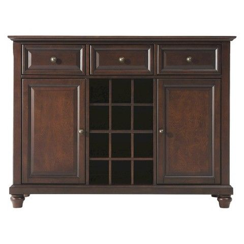 Good possible wine rack replacement - Target & Walmart for $399.99 - Crosley Cambridge Buffet - Vintage Mahogany