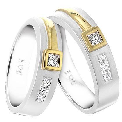 Cincin Kawin Berlian CK B1 Spesifikasi Palladium 5 Gr Emas Putih 75
