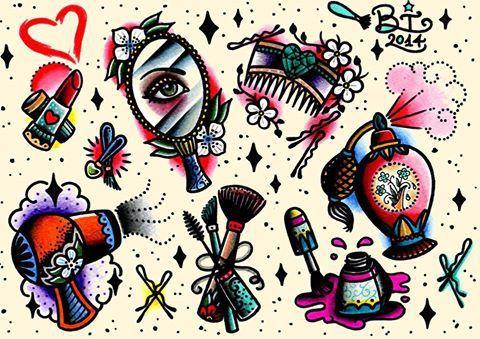girly makeup tattoos tumblr , Google Search