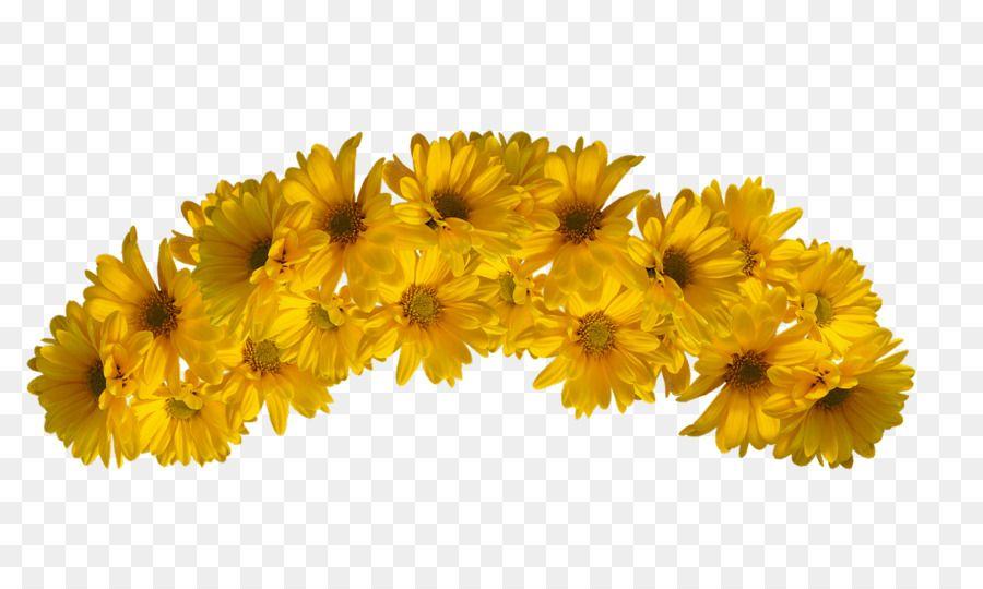 Flower Yellow Color Flower Crown Aksesoris