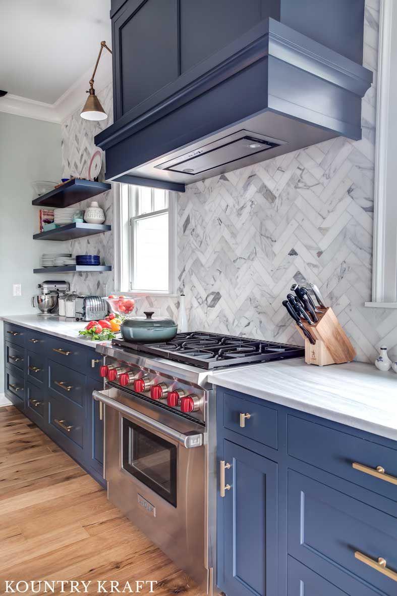 hale navy kitchen cabinets in bay head new jersey navy kitchen cabinets blue backsplash on kitchen decor navy id=28343