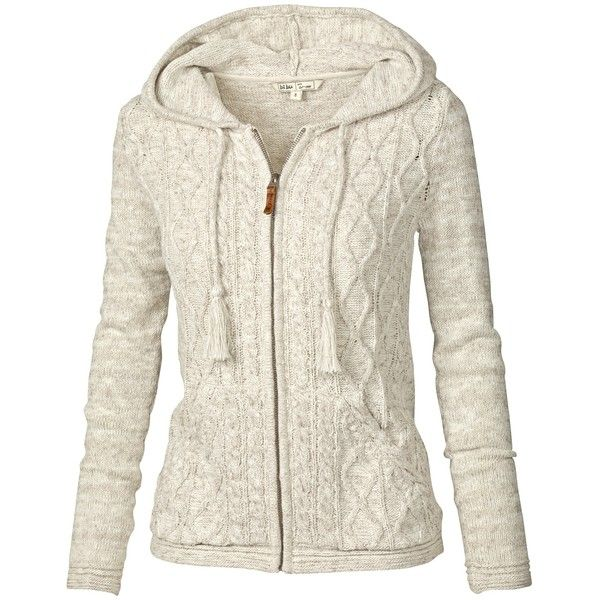 Fat Face Alicia Cable Zip Thru Cardigan , Ivory ($83) ❤ liked on ...